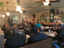 Garlin D. Gilchrist II at a Pie & Cider event in Eastpointe